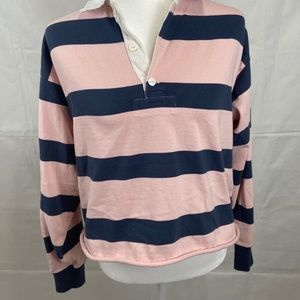 Abercrombie Womens Striped Rugby Cloth Polo